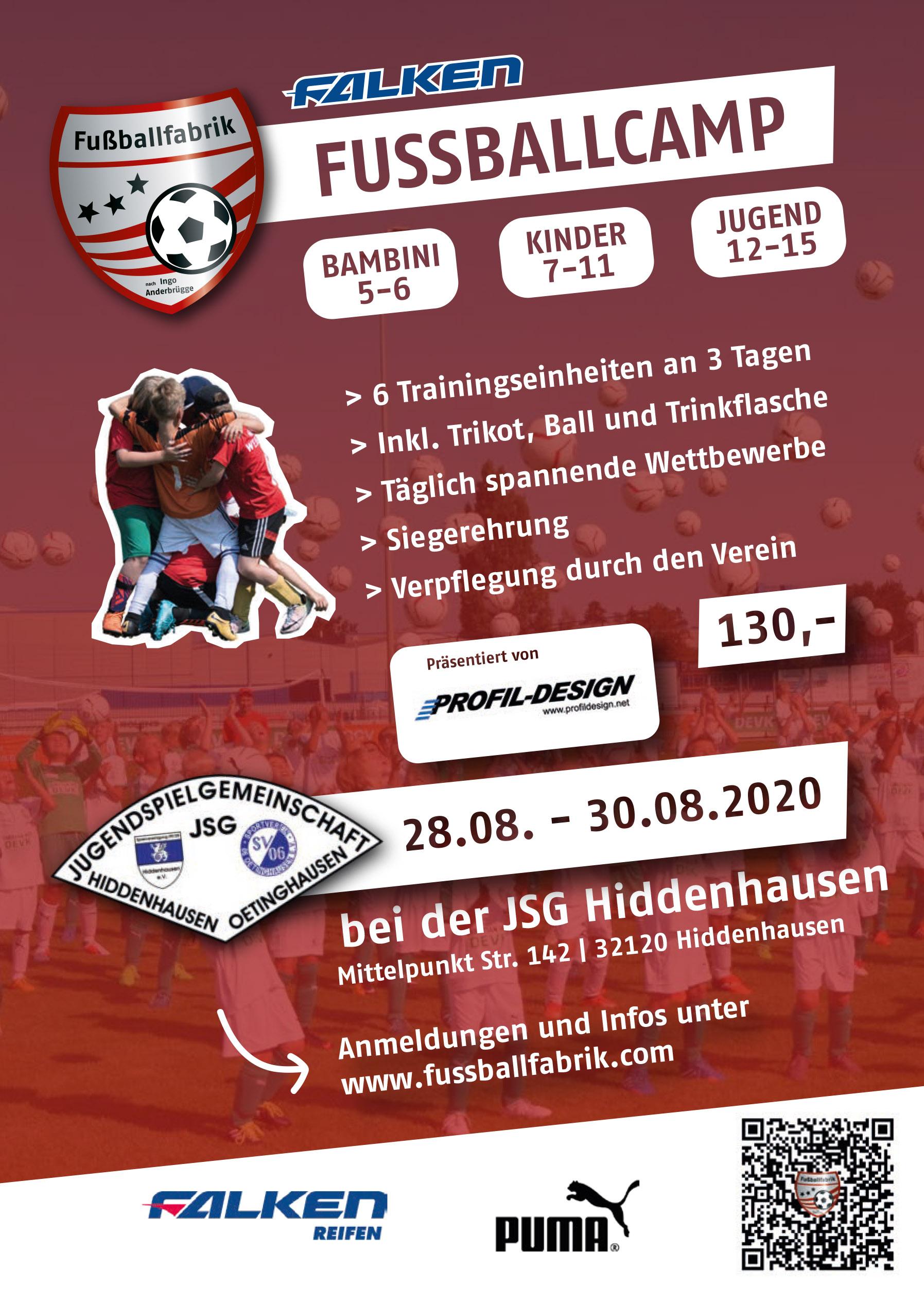 Fußballcamp August 2020